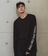 [FLUKE]플루크 Long Sleeve T-shirts FLT016C451BK 레터링 롱슬리브 긴팔티