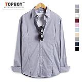 [탑보이] TOPBOY - 베이직 스판 버튼다운 셔츠 (DO142)
