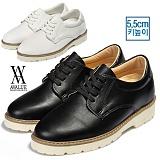 [에이벨류][5.5cm] 남성 키높이 캐주얼 웰트화 560-g707(블랙.화이트) 남자 그래고 707 구두 로퍼 신발