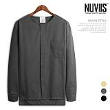 [뉴비스] NUVIIS - 히든라운드 긴팔셔츠 (BN091SH)