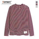 [탑보이] 패치 포인트 단가라 라운드넥 티셔츠 (HN057) 티셔츠
