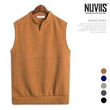 [뉴비스] NUVIIS - 골지 절개 니트조끼 (NB157VS)