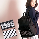 [언브라운] UNBROWN - 1985 Three Concept Backpack (BLACK) 백팩 메쉬가방