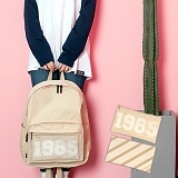 [언브라운] UNBROWN - 1985 Three Concept Backpack (BEIGE) 백팩 메쉬가방