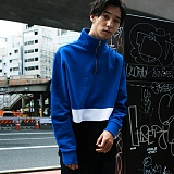 [본챔스] BORN CHAMPS CHAMPS ZIP SWEATSHIR BLUE CEPDMMT03BL 맨투맨 크루넥 스��셔츠