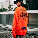 [본챔스] BORN CHAMPS LL OVERFIT SWEATSHIRT ORANGE CEPCMMT01OR 맨투맨 크루넥 스��셔츠