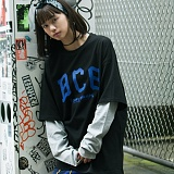 [본챔스] BORN CHAMPS DEFORM LAYERED TEE BLACK 긴팔티