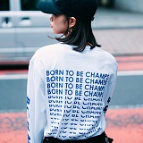 [본챔스] BORN CHAMPS BTBC L/S TEE WHITE 긴팔티
