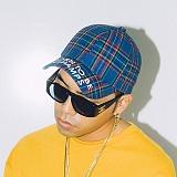 [본챔스] BORN CHAMPS BC CHECK CAP BLUE CEPFMCA12BL 모자 볼캡 야구모자