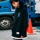 [본챔스] BORN CHAMPS LAYERD AND SLIT HOOD BLACK CEPDMHD04BK 후디 후드티