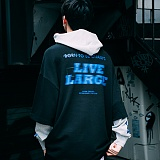 [본챔스] BORN CHAMPS LIVE LARGE LAYERED HOOD BLACK CEPCMHD01BK 후드 후드티