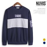 [뉴비스] NUVIIS - 마치 배색 맨투맨티셔츠 (NB159MT)