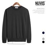 [뉴비스] NUVIIS - 노멀 컬러 레이어드 맨투맨티셔츠 (TR137MT)