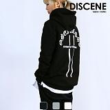 [DISCENE] 디씬 퓨처 오버핏 기모 후드티 3COLOR