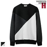 [해리슨] HARRISON 와이 엠보 절개 맨투맨 RT1073