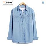 탑보이 - 샤이닝 베이직 데님 긴팔셔츠 (TSPL066) 셔츠
