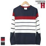 [해리슨] HARRISON 4번 단가라 라운드 니트 MD1056