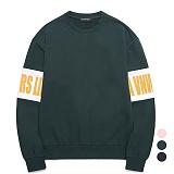 [특가할인]밴웍스 소매 배색 프린트 스웨트셔츠 (VNAGTS009)_3colors 오버핏 쭈리 맨투맨