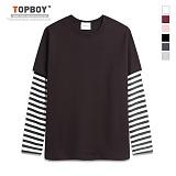 [탑보이]기획 레이어드 단가라 티셔츠 (RM042) 티셔츠