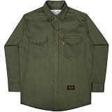 [언더에어] UNDER AIR Cotton Work - Khaki 긴팔남방 긴팔셔츠