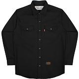 [언더에어] UNDER AIR Cotton Work - Black 긴팔남방 긴팔셔츠
