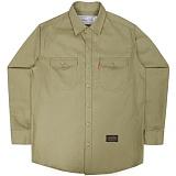 [언더에어] UNDER AIR Cotton Work - Beige 긴팔남방 긴팔셔츠
