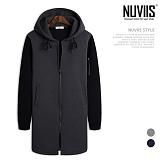 [뉴비스] NUVIIS - 네오프렌 배색 소매 롱 후드집업 (RT147HDZ)