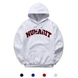 [뉴해빗] NUHABIT [N7NMH-10] - BIG ARCH NUHABIT - 기모 후드 - WHITE