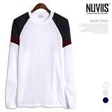 [뉴비스] NUVIIS - 미르 배색 라운드 니트 (NB169KN)