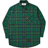 [언더에어]UNDERAIR Faded Blanket Shirts - Green 체크셔츠 남방