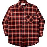 [언더에어]UNDERAIR Cow Cow Shirts - Red 체크셔츠 남방