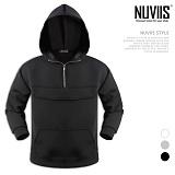 [뉴비스] NUVIIS - 네오프렌 아노락 무지 후드티셔츠 (CS047HD)