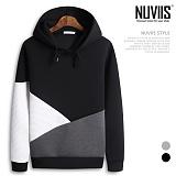[뉴비스] NUVIIS - 네오프렌 자가드 배색 후드티셔츠 (RW072HD)