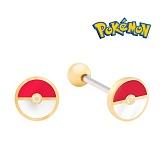 Pokemon 포켓몬스터 쥬얼리 캐릭터 피어싱-포켓볼골드 귀걸이