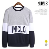 [뉴비스] NUVIIS - 삼단 배색 라운드 맨투맨티셔츠 (MD033MT)