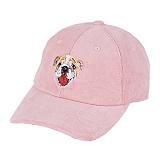 [바잘] VARZAR - Bulldog corduroy ballcap baby pink 코듀로이 볼캡 야구모자