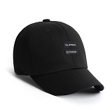 [3월 3일 예약발송][플래토] PLATEAU_ TWIN LABEL CAP_BLACK 볼캡 야구모자