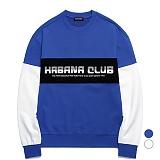 밴웍스 HAVANA 프린트 배색 스웨트셔츠 (VNAGTS010)_2colors 오버핏 쭈리 맨투맨