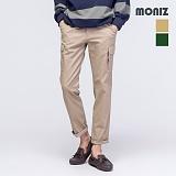 [모니즈] MONIZ 데님 배색 카고 면바지 PCT032