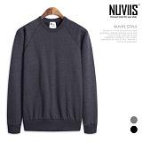 [뉴비스] NUVIIS - 디자인 심플 라운드 맨투맨 티셔츠 (MD037MT)