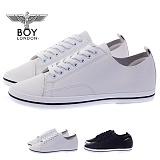 [보이런던] boylondon 남성 합성 가죽 심플 스니커즈 (화이트) 599bl-딘딘 남자 단화 신발 운동화