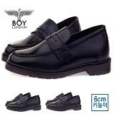 [보이런던] boylondon 남성 6cm 키높이 마틴 패니 로퍼(블랙) 579bl-로즈 남자 단화 마틴창 구두 캐주얼 정장화 신발