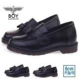 [보이런던] boylondon 남성 6cm 키높이 벨크로 태슬 로퍼(블랙) 578bl-마리 남자 단화 마틴창 구두 캐주얼 정장화 신발