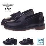 [보이런던] boylondon 남성 6cm 키높이 벨크로 태슬 로퍼(브라운) 578bl-마리 남자 단화 마틴창 구두 캐주얼 정장화 신발