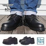 [보이런던] boylondon 남성 5.5cm 키높이 캐주얼 마틴 단화 워커(블랙)587-저스틴 남자 구두 로퍼 신발