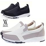 [에이벨류]남성 5cm 키높이 캐주얼 컴포트 슬립온 스니커즈(블랙.화이트) 574av-로메오 남자 신발 런닝화 단화 패션