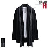 [해리슨] HARRISON 헤어 이중 숄 배색 가디건 RT1023