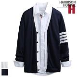 [해리슨] HARRISON 사선 배색 기본 가디건 RT1009