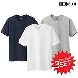 [더무지] THEMUJI - (3set) 무지 라운드넥 반팔 티셔츠