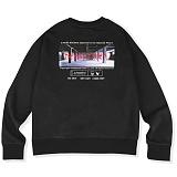[매스노운]MASSNOUN  더 이빌스 오버핏 맨투맨 티셔츠 MSVCR001-BK 크루넥 스��셔츠